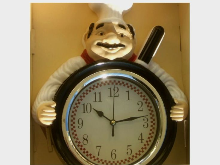 Fat Italian Chef Kitchen Wall Clock Add Humor To Your Fat Chef Themed  Kitchen With This