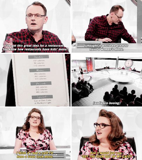 When she was taking absolutely none of Sean Lock's shit. | 23 Times Sarah Millican Proved She's The Funniest Woman In Britain