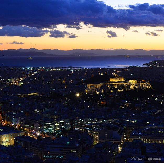 Athens view from Lycabettus hill, Greece. Photo taken by D. Evangelopoulos. Find the ideal destination for your holidays and explore the beauties of Greece. Plan and book your holidays in Greece. http://www.dreamingreece.com/attica/athens #athens #dreamingreece #travelguide #travel #greece #amazingview
