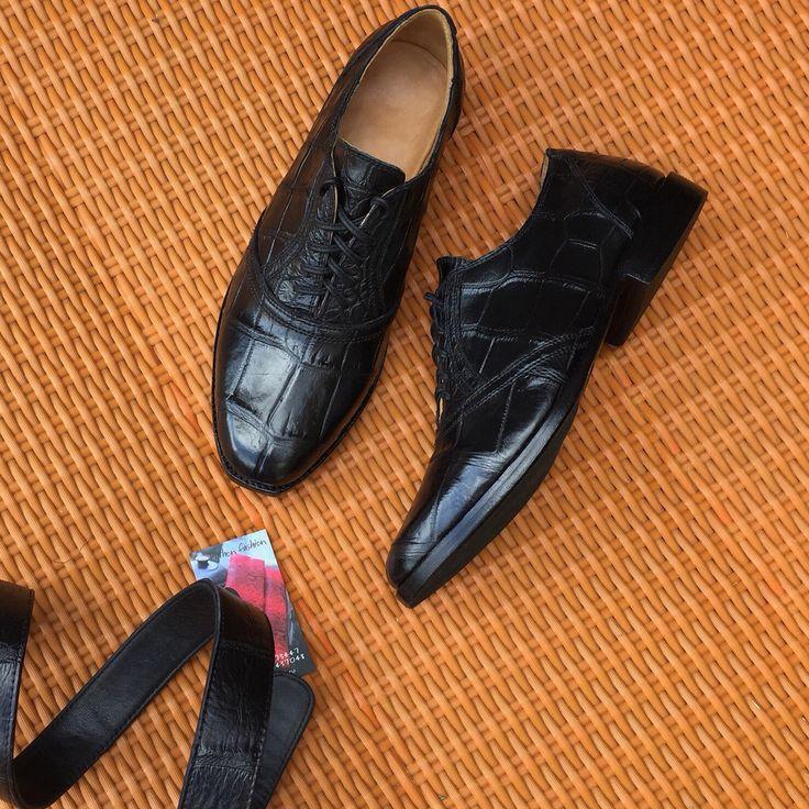 Fancy shoes for men from crocodile leather. Made to order. Any sizes. Мужские полуботинки/туфли из натуральной кожи крокодила. #частныйзаказ. Изготовим на заказ. Индивидуальный пошив. Любые размеры.