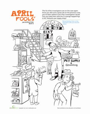 Celebrate The Wackiness Of April Fools Day With Your Little Learner And Find All