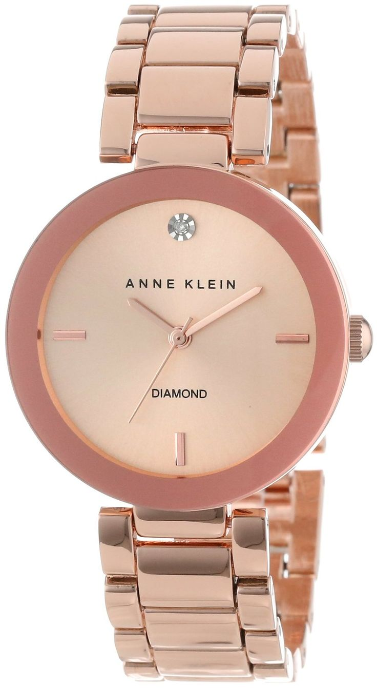 Women watches guide buy anne klein women 39 s ak 1362rgrg rose gold tone diamond accented bracelet for Anne klein rose gold watch set