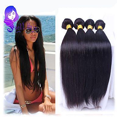 cheveux humains cheveux raides vierge péruvienne de tisse noir naturel péruvien cheveux raides 8-26 pouces de 2016 ? $25.19