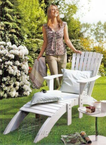 These free Adirondack chair plans will help you build a great looking chair in just a few hours. It will look great on your deck, porch, or yard. #AdirondackChair