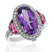 Roberta Z amethyst, pink tourmaline and diamond ring!
