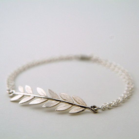 Hey, I found this really awesome Etsy listing at https://www.etsy.com/listing/226915372/silver-olive-branch-bracelet-leaf-branch