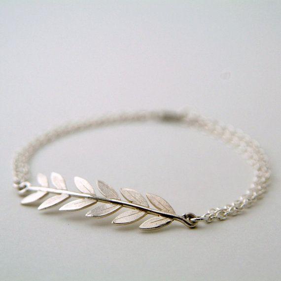 Silver Olive Branch Bracelet, Leaf Branch Bracelet, Grecian jewellery, Roman jewellery, Sterling Silver Handmade Jewellery, Wedding Jewelry