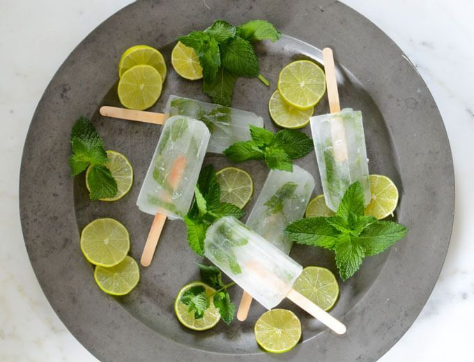 Sugar-Free Mojito Popsicles are a breeze to make. All you need for this 4-ingredient low-carb popsicle recipe is lime juice, water, mint leaves, and stevia.