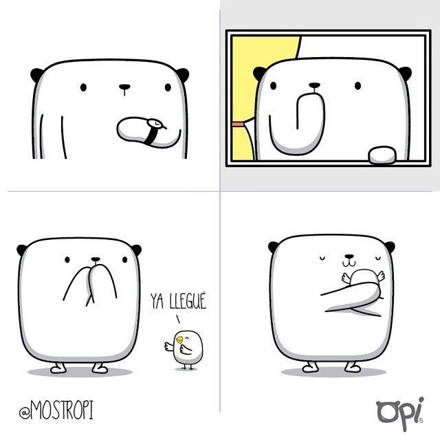 Ya llegué! #opi #cute #kawaii #mostropi #ilustración #dibujo
