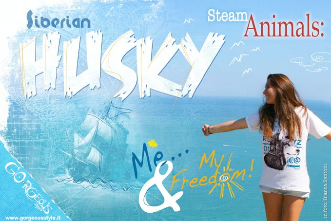 Steam Animals (GORGEOUS style) T-shirt unisex: HUSKY read description on website to know more about your right archetype)