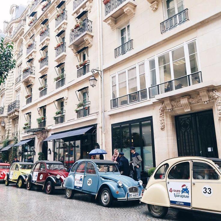Cute cars in rainy Paris this morning @bourjois_uk