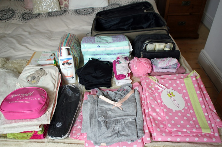 Hospital bag, some great ideas of things to take