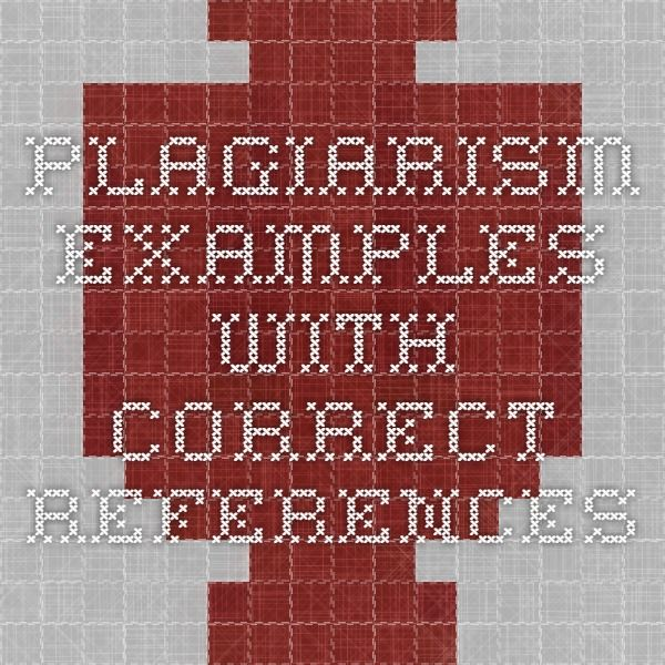 plagiarism examples with correct references