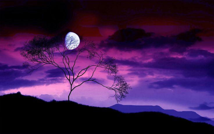 Blue or purple eclipse moon 2015 purple moon the - Purple moon wallpaper ...