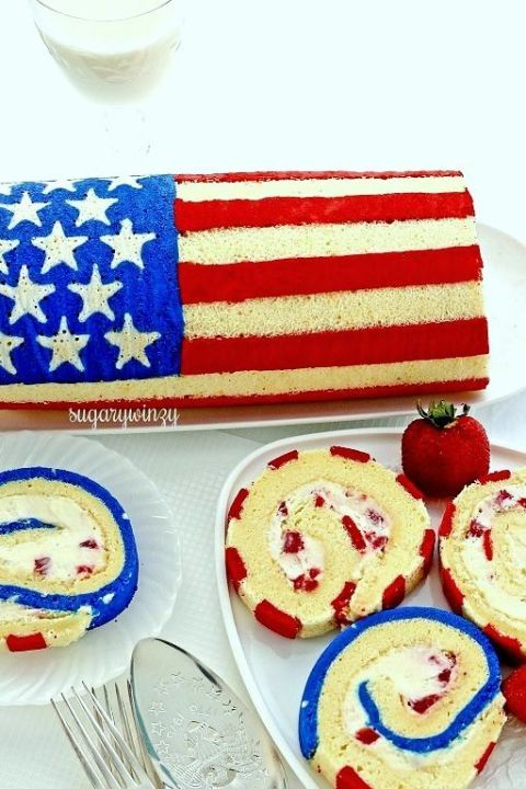 Wow! The neighbors are sure to gather when you cut into this dessert, unveiling your hard-earned culinary baking skills and unleashing a rainbow of patriotic cake goodness.