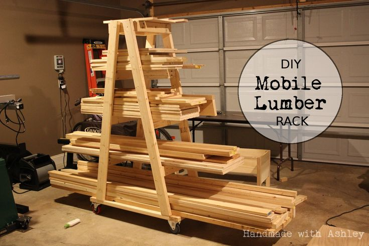 Diy mobile lumber rack plans by rogue engineer lumber rack for Mobile lumber storage rack plans