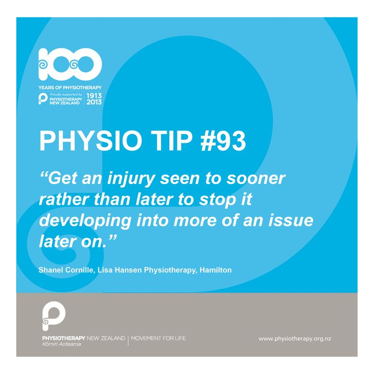 #physio tip get it seen to sooner