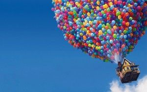 Up Movie Balloons House Wallpaper