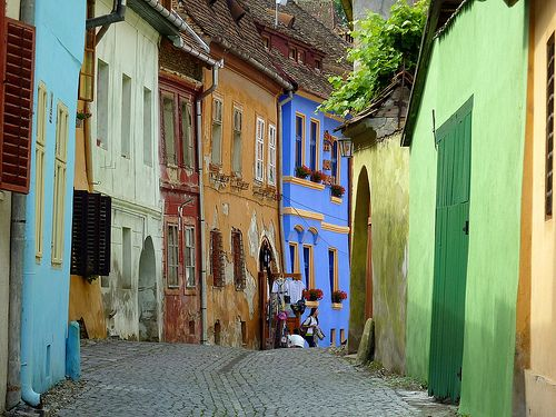 A street in Sighisoara, Romania