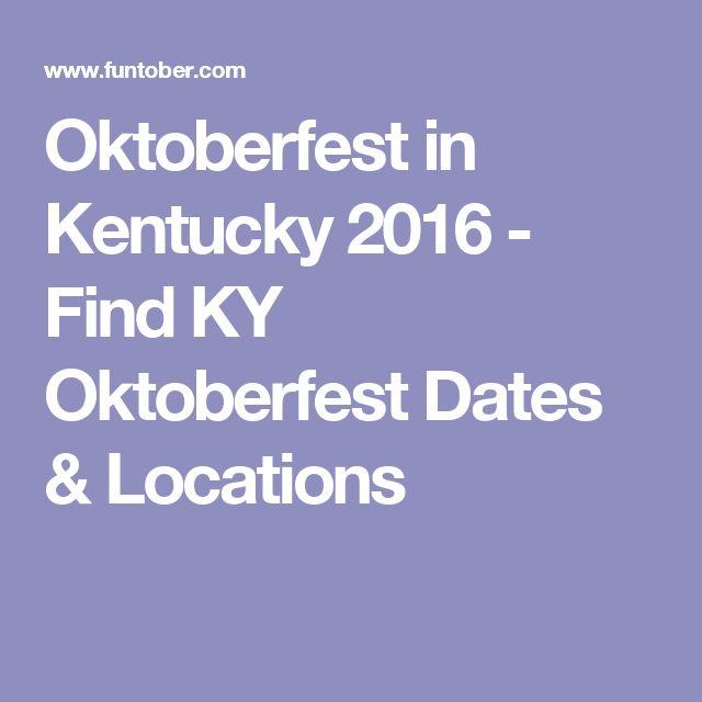 Oktoberfest in Kentucky 2016 - Find KY Oktoberfest Dates & Locations