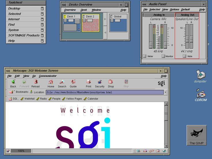 Typischer IRIX-Desktop
