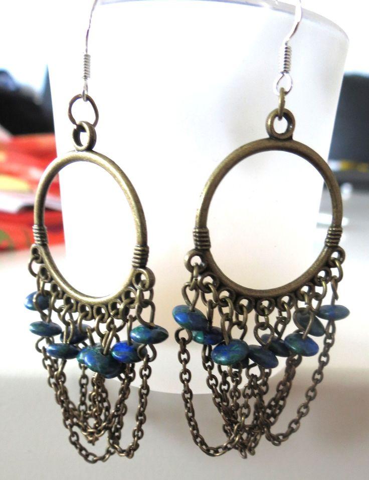 """Boucles d'oreilles d'inspiration médiévale """"Sthéno"""" : Boucles d'oreille par perlescence"""