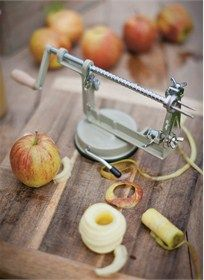 You won't be able to peel yourself away from our perfectly practical apple peeler and corer, crafted of powder coated steel.