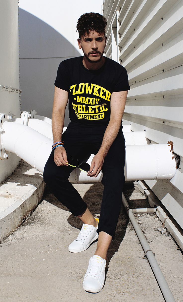 Camiseta FLOWKER ath.dept !! Camiseta de algodón al baño carbónico.