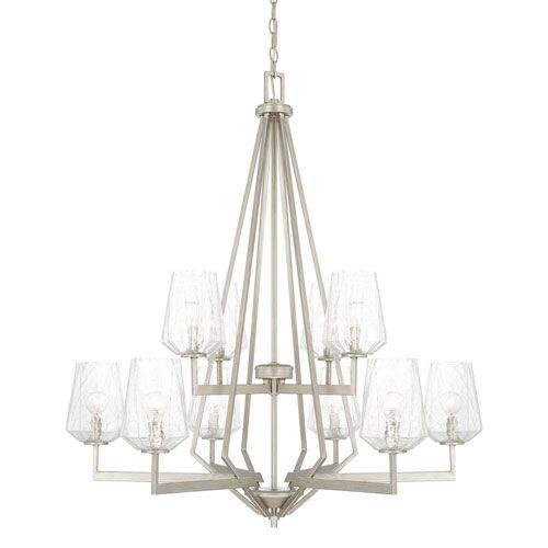 Capital Lighting Fixture Company Arden Brushed Silver Ten Light Chandelier On