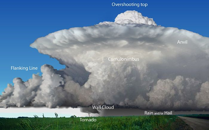 Different Types Of Severe Storms | Supercell thunderstorms are a special kind of single cell thunderstorm ...