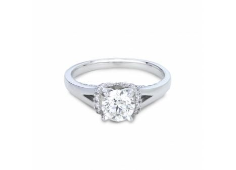 Mined in Northern Ontario this 18k Palladium & White Gold Canadian Victor Diamond 1.24ctw Bridal Ring in VS quality is a true Canadian treasure.