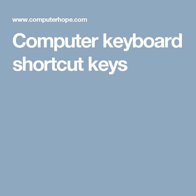 computer short cut keys Download keyboard shortcuts for windows now from softonic: 100% safe and virus free more than 43 downloads this month download keyboard shortcuts latest version 2018.