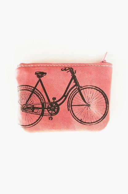 Bicycle Zip Wallet in Rose Petal Pink