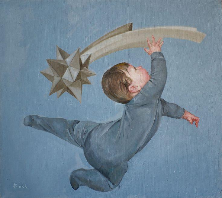 """Infant"", Oil on canvas, 80x90 cm., 2017"
