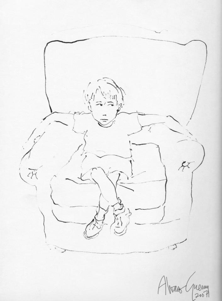 Boceto para ilustrar cuento de Neva Milicic. Santiago 2007.
