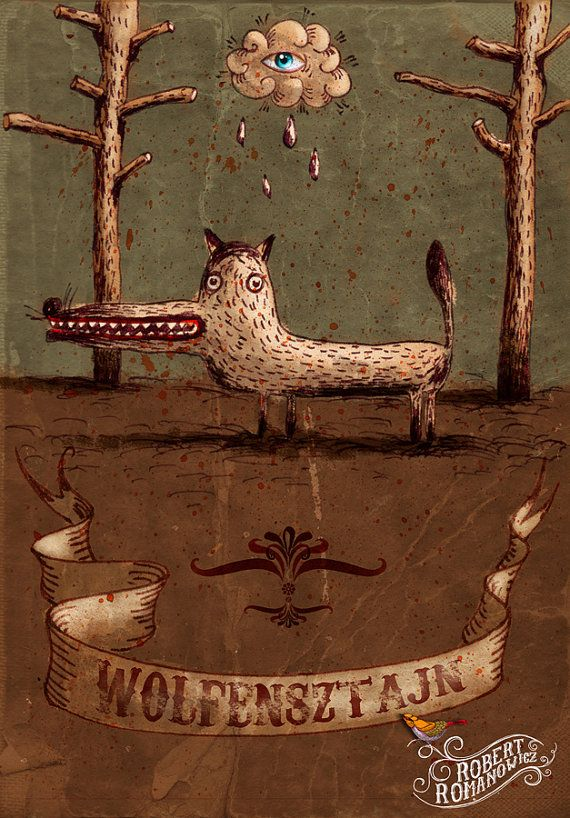 title: wolfensztajn  high quality printing  by RobertRomanowicz