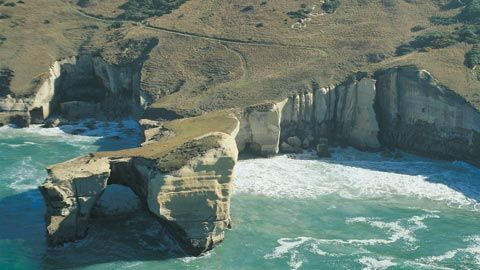 Coastal Cliffs, Dunedin, New Zealand