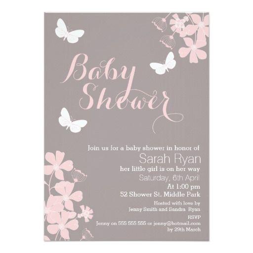 39 best Baby girl shower invitation images on Pinterest Shower - baby shower invitation backgrounds free