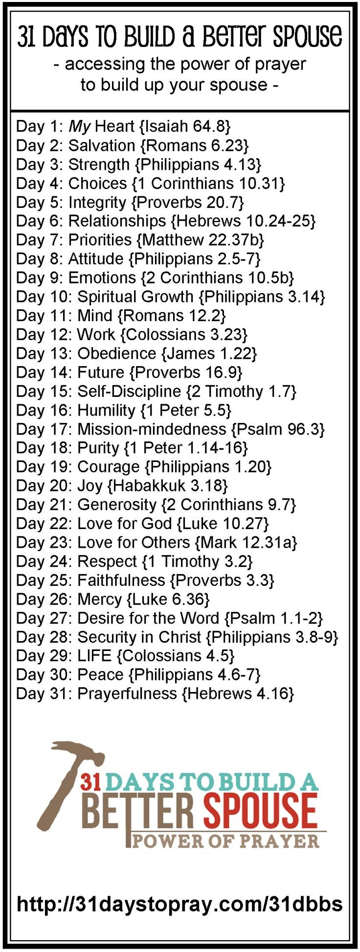 31 Days to Pray