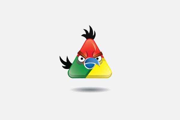 Famous Logos As Angry Birds SOMF Some Of My Finds - Famous logos redesigned as angry birds characters