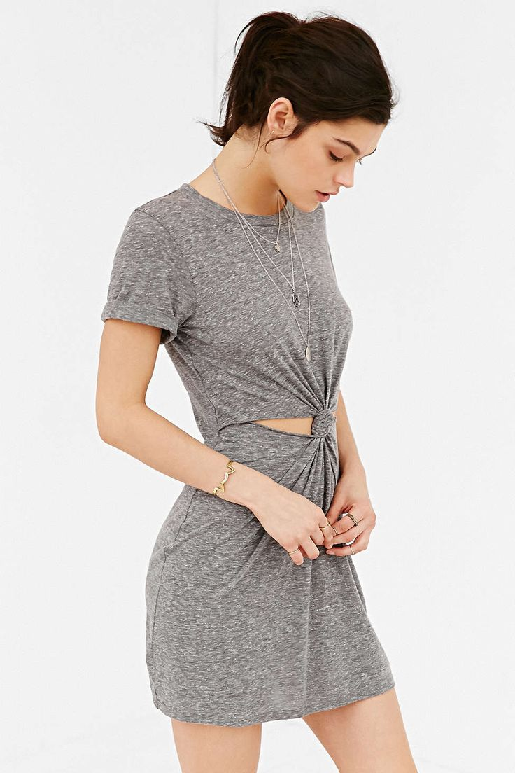 Honey Punch Knot-Front T-Shirt Dress - Urban Outfitters