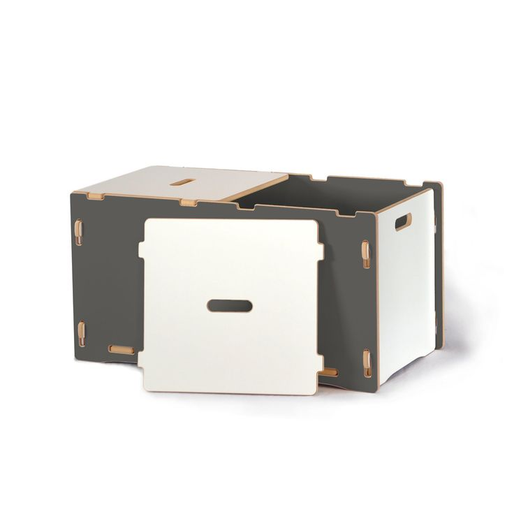 Have to have it. Sprout Toy Box - Grey and White - $107.98 @hayneedle