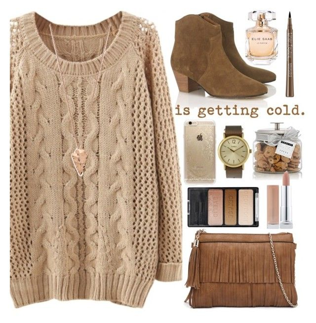 """is getting cold."" by ines-nene-pt ❤ liked on Polyvore featuring Étoile Isabel Marant, Elie Saab, FREDS at Barneys New York, Bourjois, Rifle Paper Co, Pamela Love, Timex and Wet n Wild"