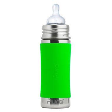 Nerezová dojčenská fľaša Pura 325 ml - Zelená