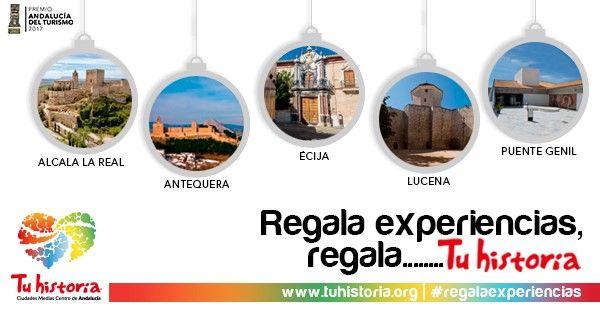 Si aún no sabes que regalar esta #Navidad hemos llegado a tiempo, tenemos para ti #experiencias #AlcalálaReal #Antequera #Écija #Lucena #PuenteGenil  ¡REGÁLANOS!  Es muy fácil: ponte en contacto con nosotros en nuestros puntos de información y en www.tuhistoria.org. Tú solo tienes que encargarte de regalársela a la persona que tú quieras #regalaexperiencias