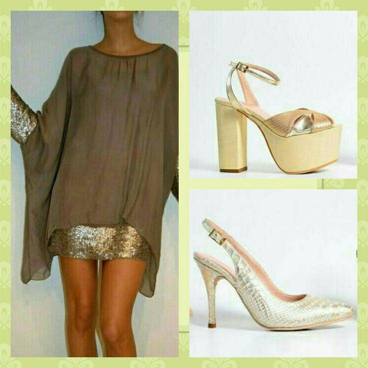 Oro zapatos noche Micheluzzi