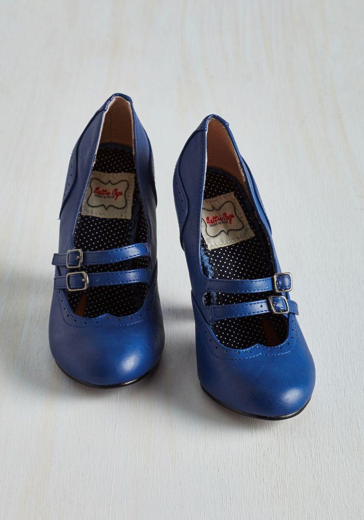 Follow Your Sweetheart Heel in Sapphire   Mod Retro Vintage Heels   ModCloth.com