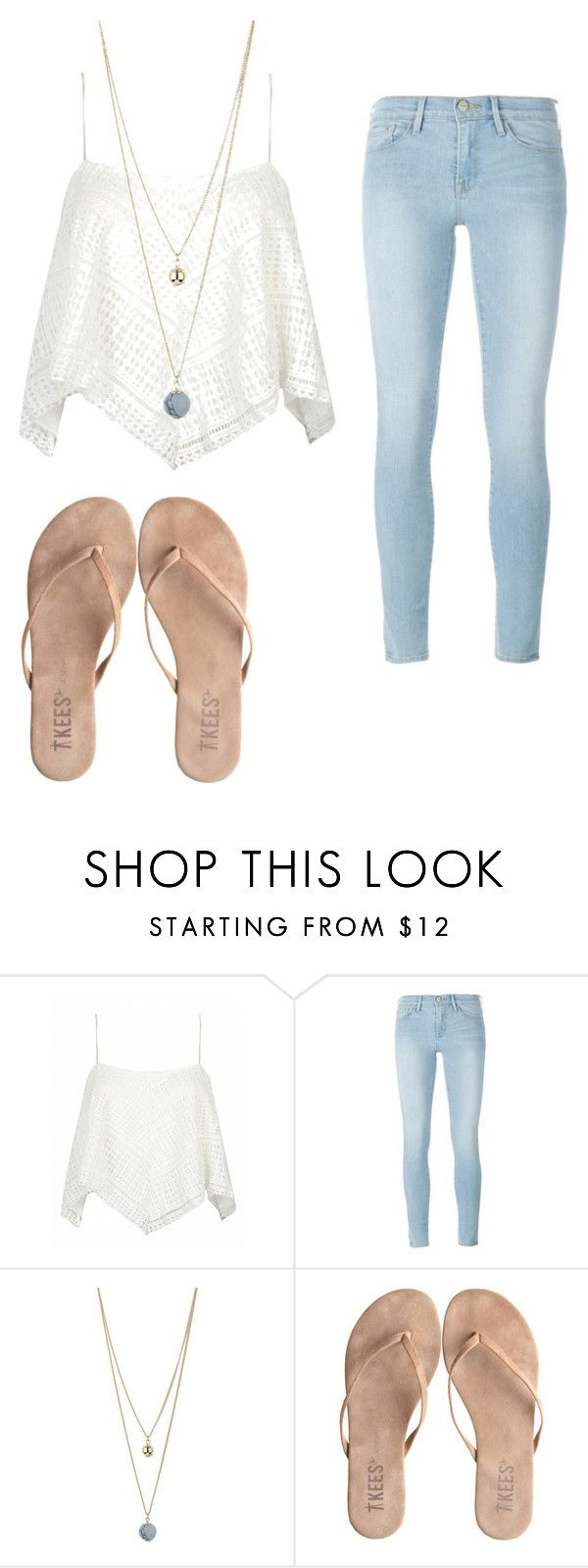 """Sand"" by joannaroseb ❤ liked on Polyvore featuring Frame Denim, Dorothy Perkins and T KEES"