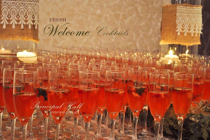 Fresh Welcome cocktails for wedding guests #principalhall #wedding #weddingcocktail #cocktail #drinks #guests #weddingday #strawberry #orange #lime #juice # vodka #cinnamon #spearmint
