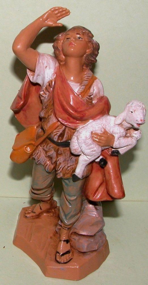 Fontanini Nativity figure, Micah, shepherd, lamb, Christmas, NIB, 5 in. series #FontaniniNativity